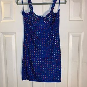 brand new gemstone encrusted party dress